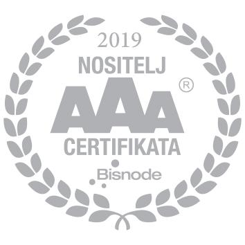Nositelj AAA certifikata, 2019. godina